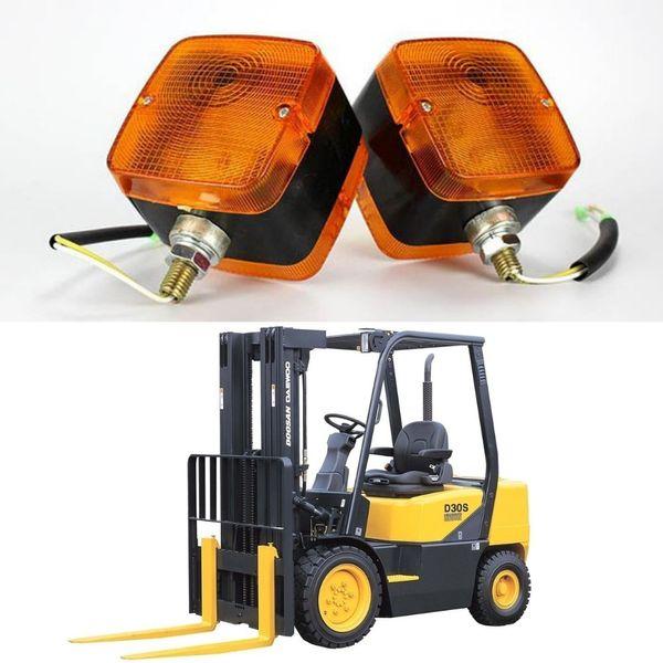 Forklift ATV Truck Trailer Tractor Front Side Roof Rear TURNING SIGNAL LIGHT Amber Reverse Backup Warning Fog Lamp 12V 24V