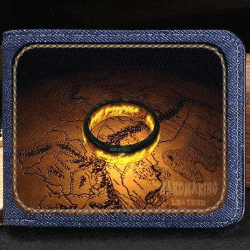 The Lord of the Rings wallet Fantastic purse Cool short cash note case Money notecase Leather burse bag Card holders