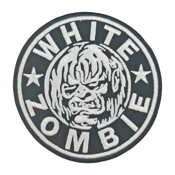 White Zombie Iron On Embroidered Patch for Clothing Decoration Applique Front of Jacket Parch Free Shipping