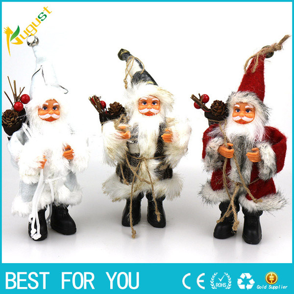 Горячая Продажа 2018 Рождество Санта-Клаус Кукла Игрушка Елочные Украшения Украшения Изысканный Для Дома Рождество С Новым Годом Подарок