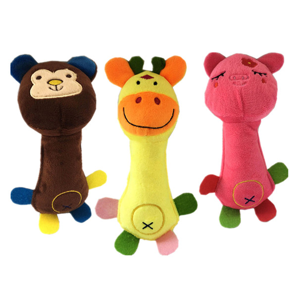 New Pet Plush Dog Cat Toy Lovely Cute Animal Pattern Squeaking Sound Plaything Stuffed Toys Gift