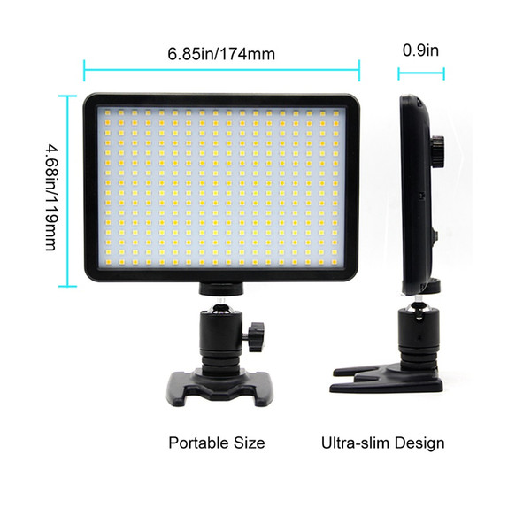 wholesale 300 Photography Lighting For Canon Flash SLR 288 LED 700-1000Lux 3000-6000K Dimmable Camera Light For Nikon Flash