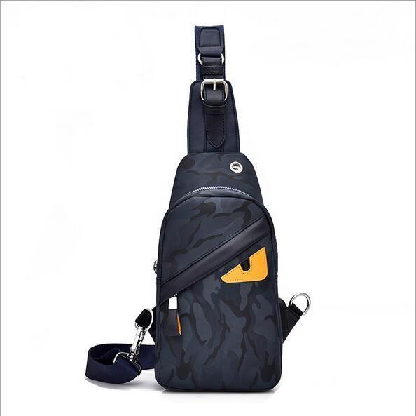 Sac de harnais de mode USB Sacs à main Oxford Hommes Poitrine Pack Simple Bandoulière Sac à Dos Sac à Bandoulière Sacs pour Femmes Sling Bag