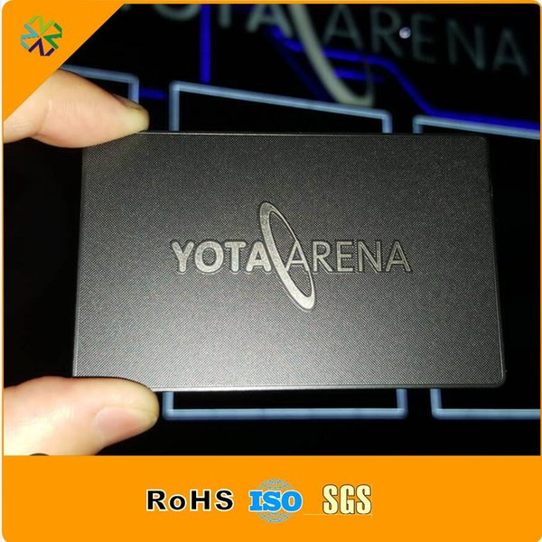 factory price!stainless steel material 85*54mm credit card size words engraved printed metal card