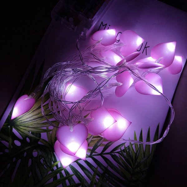 Nette rosa blaue Herz-Haus-Dekorations-Laterne 3M 20LED Weihnachtsfest-Festival-helle Schnur wasserdichtes Innenaußen