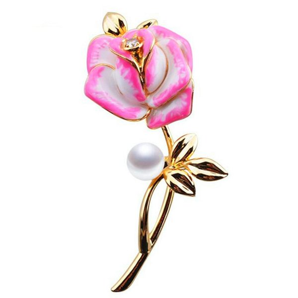 Enamel Brooches Flower For Women High Quality Wedding Party Corsage Boutonniere Flowers Women Brooch Pins Wholesale