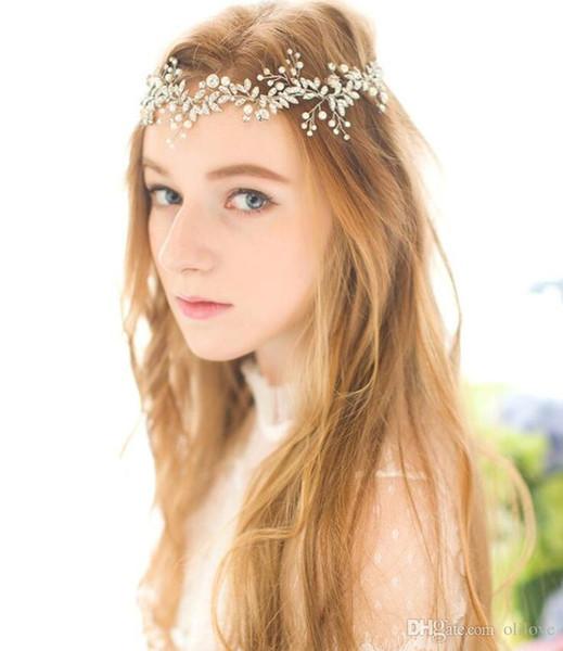 New Fashion Crystal Flower Headpiece Wedding Hair Accessories Special Occasion Headbands Bridal Headband Tiara Free Shipping