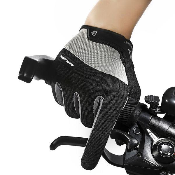 Men Running Gloves Full Finger Cycling Gloves Warm Anti-slip Shockproof Bike Bicycle for MTB Road Sport Shockproof
