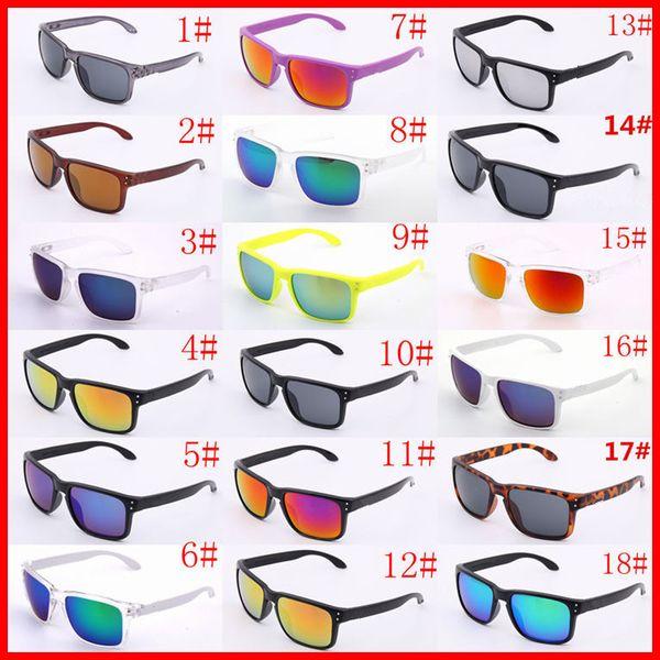 럭셔리 선글라스 UV400 보호 9102 스포츠 선글라스 남자 여자 Unisex 여름 그늘 아이 방 야외 사이클링 태양 유리 18 색상