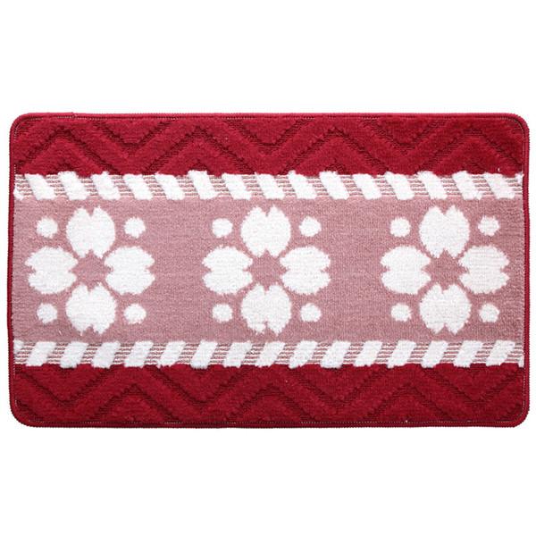 16 * 24 pollici rosso coperta antiscivolo zona assorbente tappeto 1 pezzo 270g polipropilene geometrica decorazione esterna accogliente coperta 5 colori