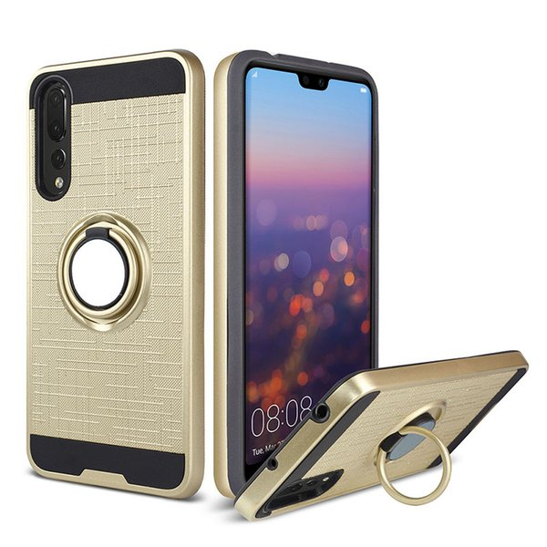 Ring Cell Phone Case For iPhone 11 XS Max XR 6s Plus Huawei P Smart P20 Lite P20 Pro Y5 Prime Y6 Y7 Prime Y9 2018 New Polished Cover Design