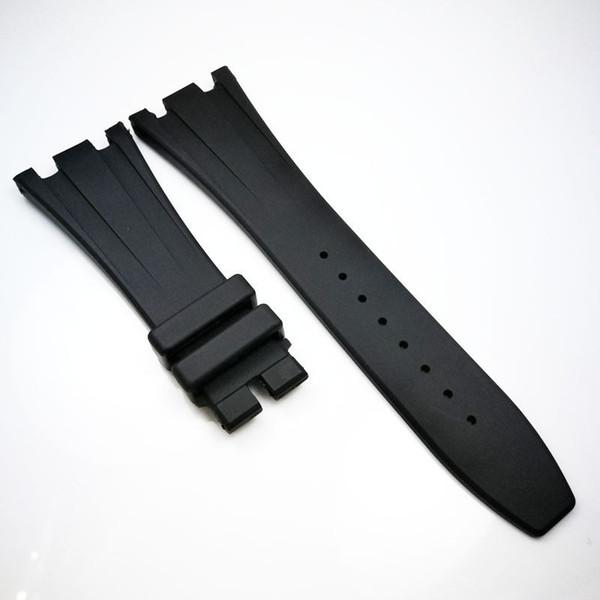 Bracelet en caoutchouc silicone de luxe noir de haute qualité pour AP Audemars Piguet Royal Oak Offshore
