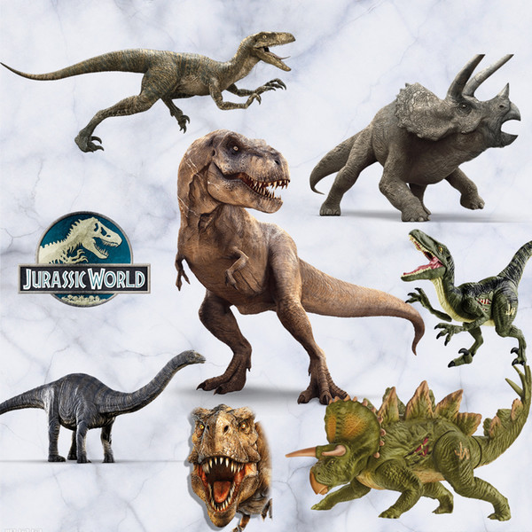 Jurassic World Wall Stickers 3D Dinosaur Wall Art Decals DIY Kids Room Wall Decor PVC Home Decorative Sticker Murals