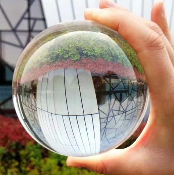 Limpar a Bola de Lente Fotografia Prop Bola de Cristal 80mm K9 Cristal Decor Globo de Meditação Cura Magia Feng shui Esfera