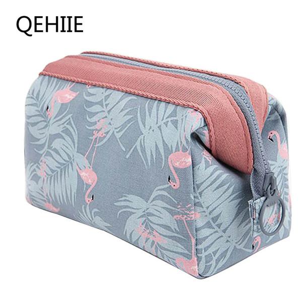 QEHIIE 2017 New Fashion Polyester Multifunctional Women Cosmetic Bag Portable Storage Travel High Quality Makeup Bag