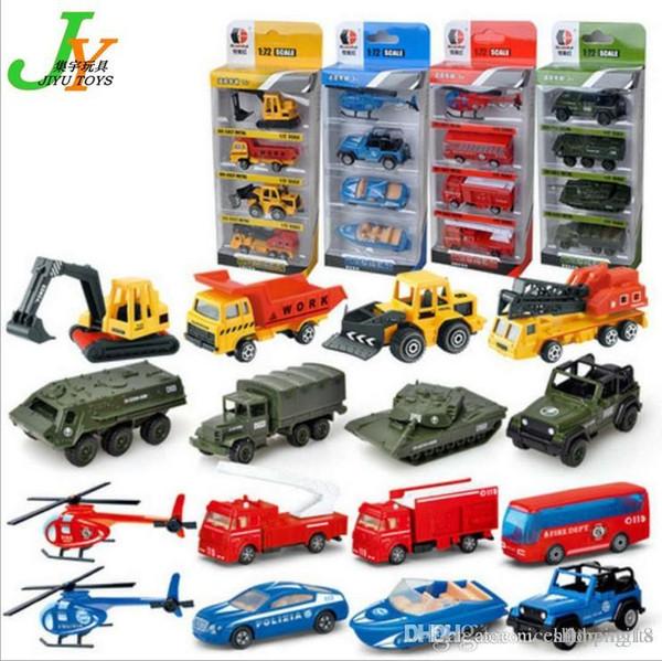 T37 Kid Mini Model Cars 4 set Alloy Diecast Construction Vehicle Engineering Car Dump-car Dump Truck Model Classic Toy Mini Gift for Boy