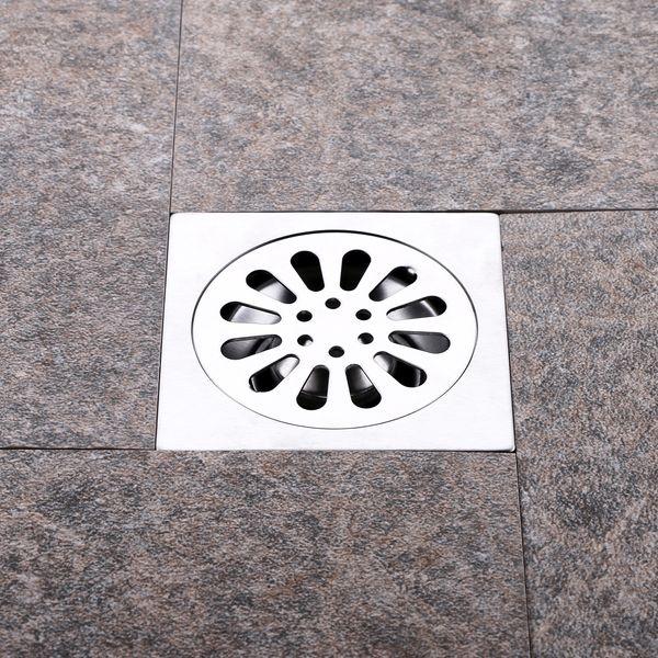 304 stainless steel floor drain square bathroom toilet shower room large displacement deodorant floor drain