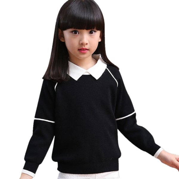 221ccca2d 2018 Baby Toddler Teen Girls Sweaters Spring Fall Child Long Sleeve Knit  Clothes Kids Turn Down Collar Sweater For Girl JW4010 Toddler Boys Cardigan  ...