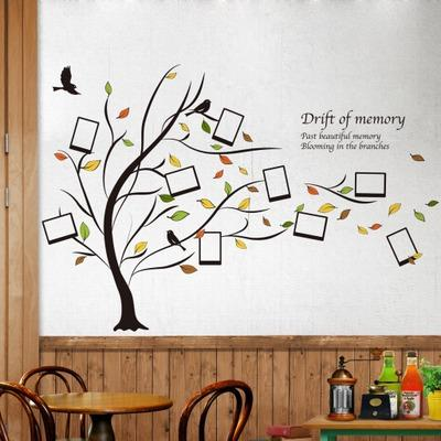 Wholesale 123*95cm Tree Picture Frame Wall Stickers Wallpaper Paper Peint 3d Home Decor Bathroom Kitchen Accessories Household Suppllies