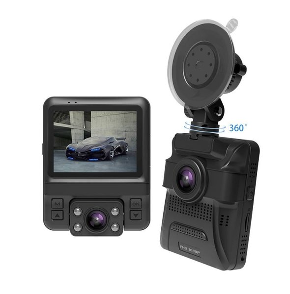 Car Dash Cam 2.4 LCD FHD 1080p Dashboard Camera Recorder with Sony Sensor, G-Sensor, WDR, Loop Recording,Build-in GPS,Dual Lens CAR DVR