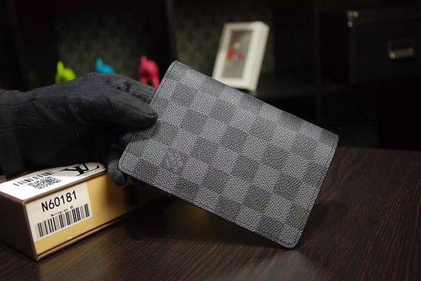 Passport cover Damier canvas travel document set N60189 black box OXIDIZED LEATHER CLUTCHES EVENING LONG CHAIN WALLETS COMPACT PURSE