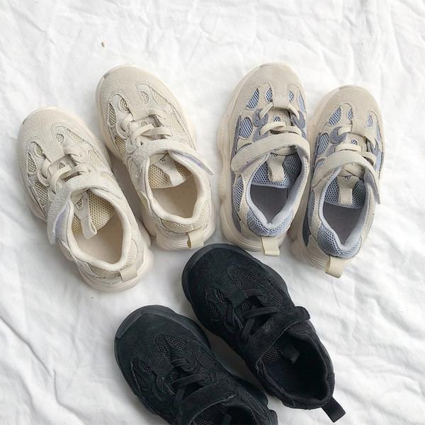 2018 nouveaux enfants respirant fond épais antidérapant magie chaussures de sport collantes