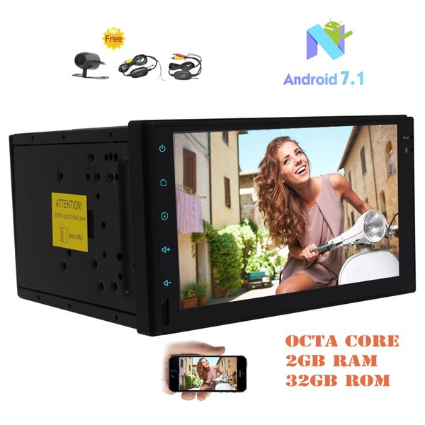 "Eincar Android 7.1 Octa-core 2GB&32GB Car Stereo Double Din 7"" Capacitive TouchScreen In Dash GPS Navi FM/AM RDS Radio Receiver HeadUnit"