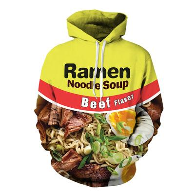 New Fashion Couples Men Women Unisex HD beef ramen/Chicken noodles Food 3D Print Hoodies Sweater Sweatshirt Jacket Pullover Top S-5XL