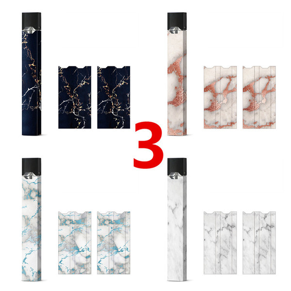 4pcs/card 40 designs in stock Juul sticker decal skin cover case for ecig kit vape mod free DHL high quality 3M vinly