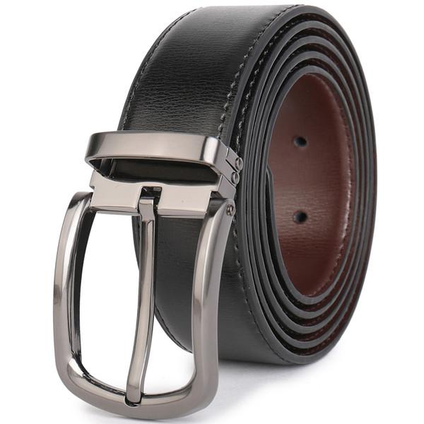 Korean Mens PU Leather Belt Anti-allergic Buckle Waistband #23593-#23602