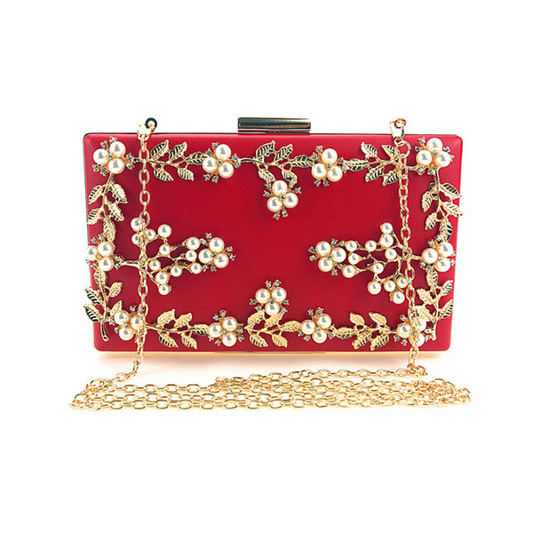 Factory Direct Sale, Heng Mei Cross Hand Dinner, Handbag, Handbag Chain, Slanting Pearl Bag, European And American Fashionable W