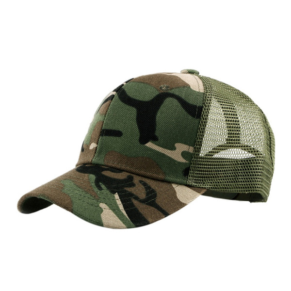 Camouflage Climbing cap Summer Breathable mesh cap for men women snapback Hat for men army Green hat