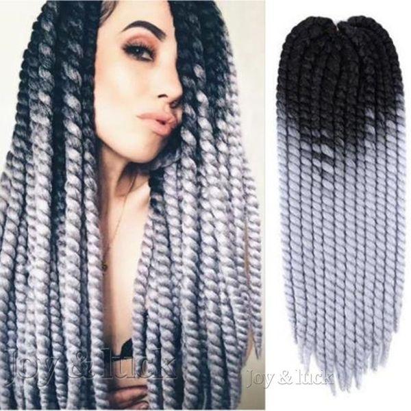 "best selling 22"" ombre burg color jumbo Kanekalon havana mambo braiding twist curly crochet hair synthetic beaid hair extentions"