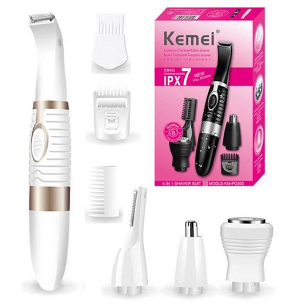 Barbeador eletrônico terno 4 em 1 mulheres elétrica depilador depilação depilador limpeza crianças cabelo clipper barbeador eletrônico