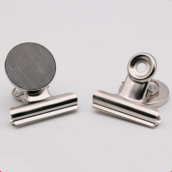 Round Shape Metal Fridge Magnet Clip Silver Tone Magnetic Refrigerator Wall Memo Note Message Holder F20173942