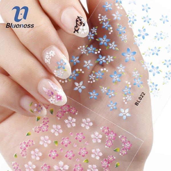 30 fogli Bellezza Floral Design Pattern Nail Stickers Misti Decalcomanie Transfer Tips 3D Nail Art Decorazioni Bellezza regalo di qualità