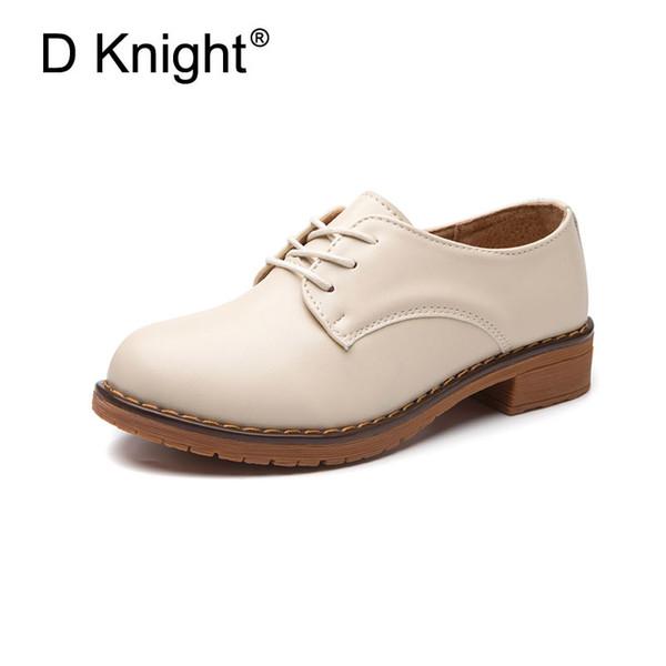 Dames Casual Plat Oxford Chaussures Confortable À Lacets Toe Ronde Vache Split En Cuir Oxford Pour Les Femmes Femme Casual Appartements Taille 34-41