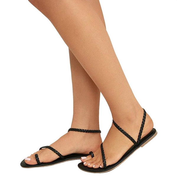 Mokingtop Women Summer Strappy Gladiator Low Flat Heel Flip Flops Beach Sandals Shoes Sandals Flat #4S Australia 2019 From Annawawa, AU $24.17  