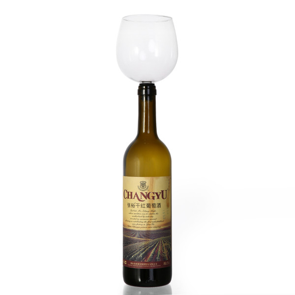 Creative Free Shipping Fastest ePacket Drinking Wine Glass Of Wine Bar Tools Stopper It Turns Bottle Of Into Glasses