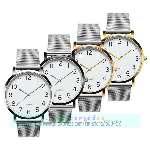 100pcs/lot fashion new silver belt lady mesh watch wrap causal quartz wrist watch wholesale clock for couple and lovers