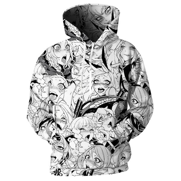 Cloudstyle  3D Print Anime Hoodies Men Clothes 2018 Cartoon Girls Hoody Sweatshirts Harajuku Streetwear Plus Size 5XL