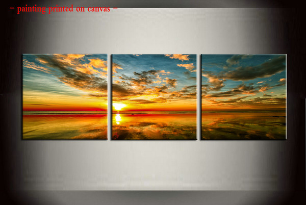 Framed/Unframed Large Modern 3 piece Sets Wall Art Giclee Prints Painting Picture Canvas Australia Kebour sunset for Living Room Home Decor