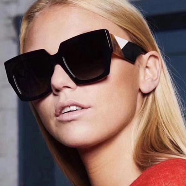 2018 nouvelles lunettes de soleil grand cadre carré couleur match F même modèle sans lunettes de soleil mode logo pour les femmes