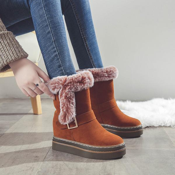 2018 nuovi stivali invernali scarpe da donna piatte in cotone marea delle donne più velluto stivali di neve spessa caldo