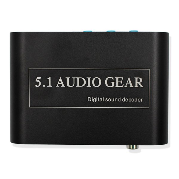 high quality 5.1 Audio Gear Digital Sound Decoder Converter Support Dolby DTS Optical to 3RCA with USB Port for Charging for DVD XBOX360