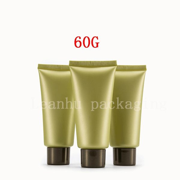 60G Empty Cosmetic Containers Plastic Tubes Used for Foam Cleanser, Hand Cream Container Refillable Tube Plastic Squeeze Tubes