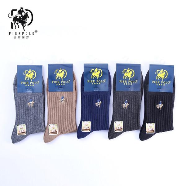 wholesale new dress fashion men pure color wool socks keep warm grew sock men's best gift socks 5 pairs package promotion price