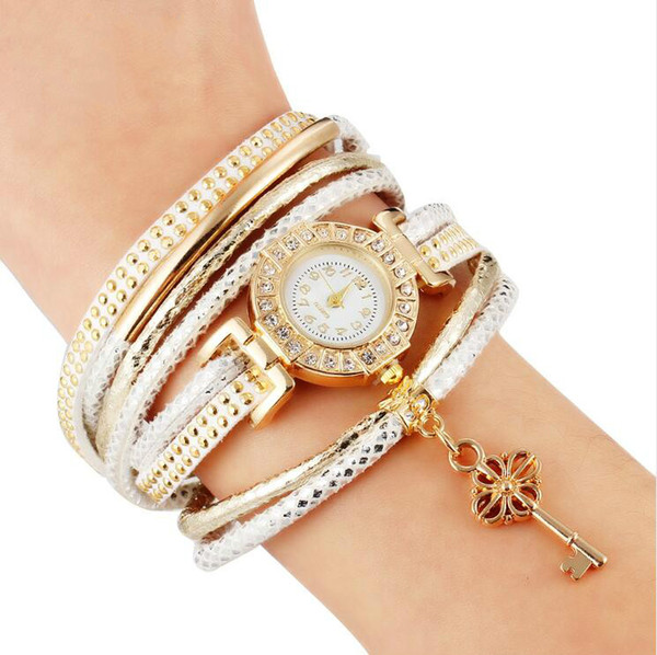 Fashion Lock Crystal Watch Bracelet Multilayer Bracelet For Women Charm Bracelets & Bangles Vintage Pulseras Femme Jewelry