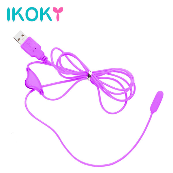 IKOKY Vibrante Huevo Uretra Estimular Penis Plug USB Vibrador Juguetes Sexuales para Hombres Mujeres Hombre Mujer Masturbador Producto Adulto S919