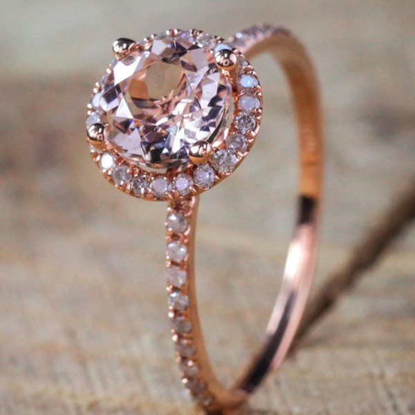 Silver plated rose gold ring hand jewelry New best selling silver plated rose gold micro-ring ring Send box